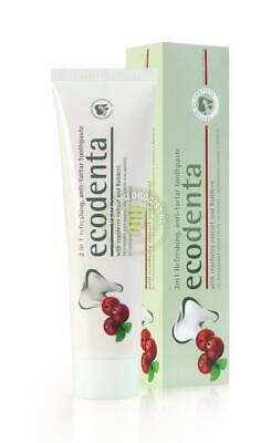 Ecodenta - Tandpasta - 2in1 - Cranberry - 100 ml