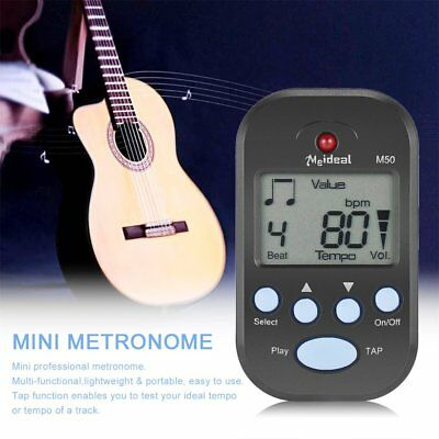 Clip-On Lightweight & Portable Mini LCD Digital Beat Tempo Metronome RY