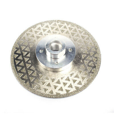 """4"""" Electroplated Diamond Cutting Grinding Disc For Granite Marble M10 Thread"""