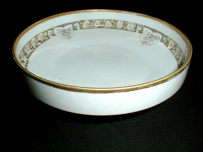 Nippon RC Royal Crockery 3 Footed Moriage Candy Nut Bowl Dish 1911