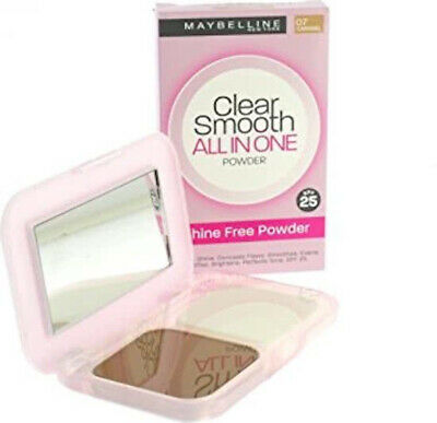 Maybeline Clear Smooth - All In One Poeder 07 Caramel - SPF 25