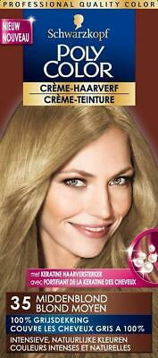 Schwarzkopf Poly Color Semi Permanente Haarverf 35 Middenblond