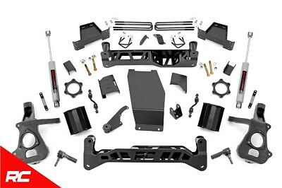 "Rough Country 7"" Lift Kit (fits) 2014-2018 Silverado Sierra 1500 4WD w/ N3 Shock"