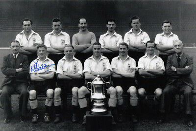 HAND SIGNED 12x8 PHOTO : DERBY COUNTY 1946 REG HARRISON