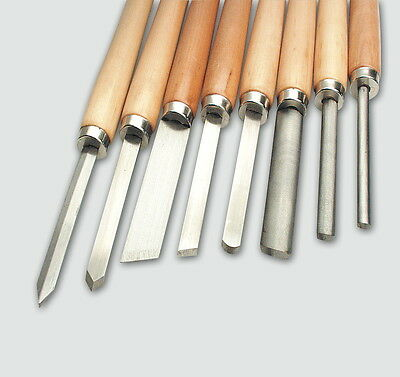Mannesmann Wood Lathe Chisel Set 8 pcs <> Woodworking Carving Tools VPA GS TUV