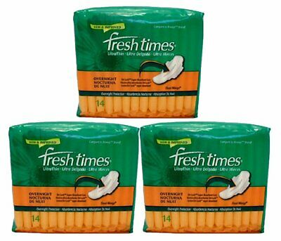 Fresh Times Ultra Thin W/Wings Overnight 14/Ct (3 Pack)