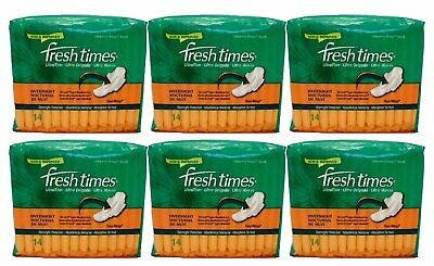 Fresh Times Ultra Thin W/Wings Overnight 14/Ct (6 Pack)