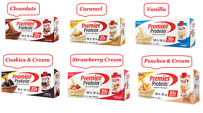 "Premier Protein High Protein Shake "" Available Six Flavor ""(11 fl. oz., 12 Pack)"