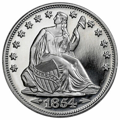 Highland Mint Seated Liberty Design 1 oz Silver Round GEM BU SKU57938