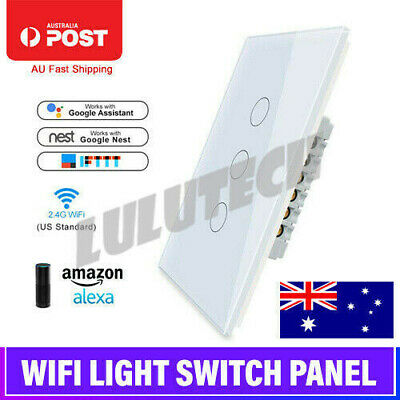 Smart Home WiFi Panel Touch Switch Wall Control Light For Alexa Google Home AU