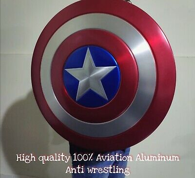 The Avengers Captain America Shield 1:1 Full Aluminum Metal Marvel Cosplay Props