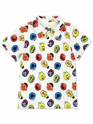Sesame Street Elmo Boys Baby Toddler Polo Collared Tee Shirt BSGC407