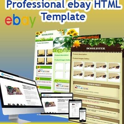 Ebay Design Auction Shop Listing Template Mobile Responsive ✅ Instant Delivery ✅