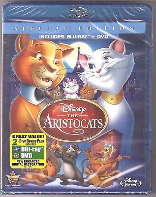 Disney The Aristocats Blu-ray + DVD Special Edition 2-Disc Combo Pack BRAND NEW