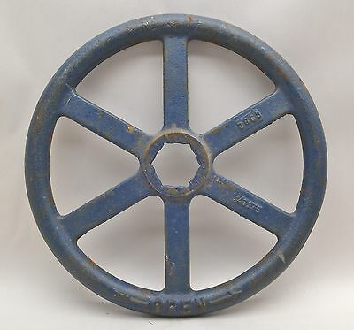 "12"" Vintage Cast Iron STEAM VALVE HANDLE Wheel STEAMPUNK, Industrial Art Spoked"