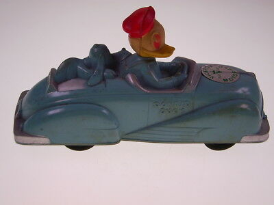 "GSCOM ""DONALD DUCK ON CAR"" VICEROY TOYS CANADA,1940s, FRICTION OK, VERY GOOD!"