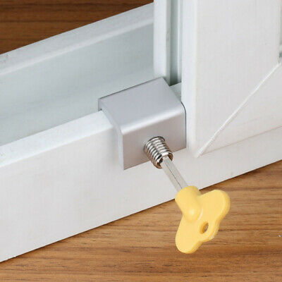 Security System Restrictor Window Frame Block Sliding Door Limit Safety Lock