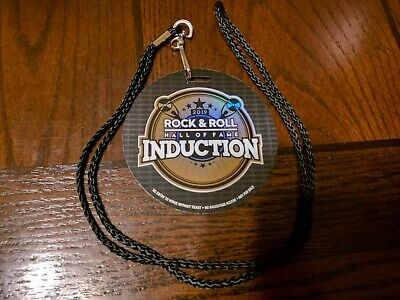 2019 Rock & Roll Hall Of Fame Induction Lanyard Pass 3/29/19 Rare Promotional
