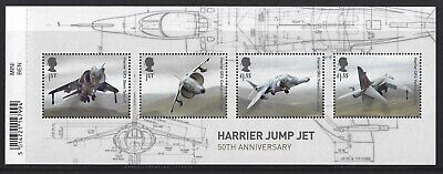 Great Britain 2019 Harrier Jump Jet Miniature Sheet With Barcode Unmounted Mint
