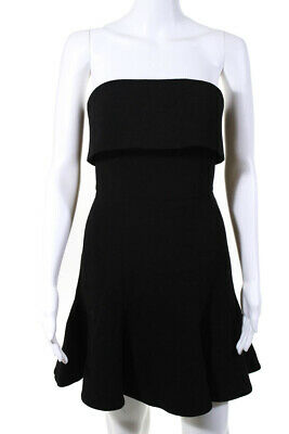 2babed6c2d40 C/MEO Collective Womens Strapless Apex Mini Trumpet Dress Black Size Small