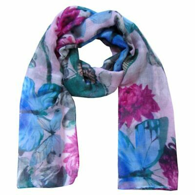 Scarf Animal Print Butterflies Butterfly Flowers Large Many Colours