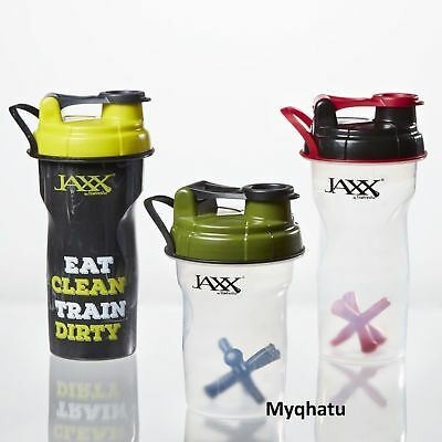 3 x JAXX Shaker Mixer Cups Protein Fit & Fresh BPA FREE NEW