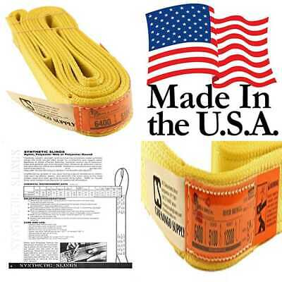 """DD Sling. Multiple Sizes In Listing Made USA 2"""" X 8' 2 Ply Nylon Lifting Slings"""