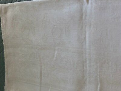 Dining Tablecloth 54.5 x 51 inches, Damask, Vintage
