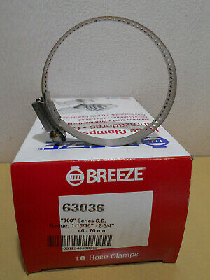"""Lot of 50 Breeze PowerSeal Clamps 300SS 1-13/16"""" - 2.75"""" (46mm - 70mm)"""