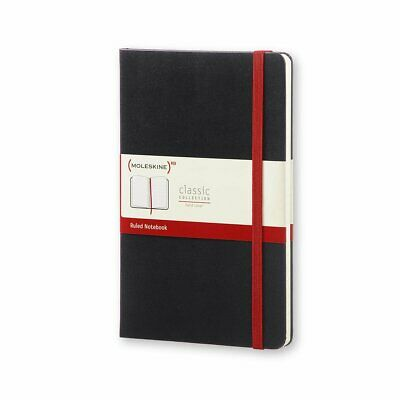 """Moleskine Classic Notebook, Hard Cover, Large (5"""" X 8.25"""") Ruled/Lined, Black"""