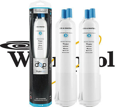 2PACK Whirlpool OEM 4396841 FILTER3 EDR3RXD1 4396710 Water Filter Refrigerator