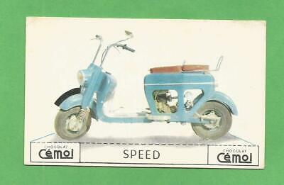 Image Chocolat Cemoi Moto Vintage Old Motorcycle Card Speed