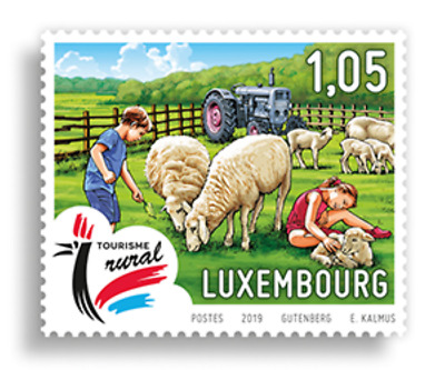 Luxemburg 2019 Tourisme   horses sheep   set of 2  mnh G