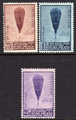 (043)     Belgium 1932 Scientific Research Fund Set SG621-23 M/Mint Cat £42