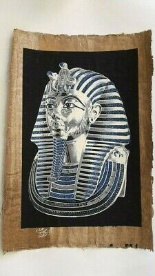 King Tut  Egyptian Old Papyrus Paper Hand Painting Shines In Dark (40x60 Cm)