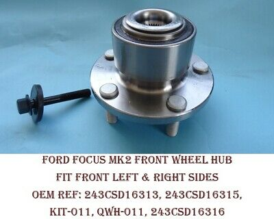 FORD C-MAX FOCUS C-MAX 1.8 1.6 2.0 X2 FRONT WHEEL BEARING HUB WITH ABS 2003/>10