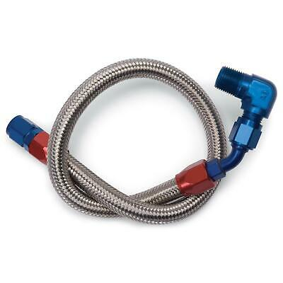 Edelbrock 8124 Stainless Steel Braided Fuel Line, Fuel Pump to Filter