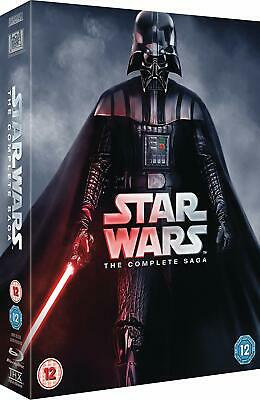 Star Wars: The Complete Saga Episodes 1 2 3 4 5 6 [Blu-ray Set Region Free] NEW