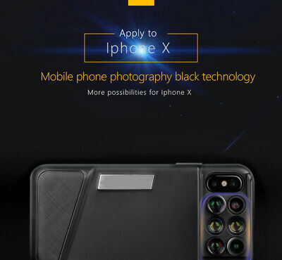 180D Fisheye Telephoto Wide-angle Macro Lens Kit Protect Phone Case for iPhone X