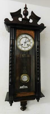 walnut & ebonised vienna wall clock