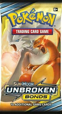 1x Pokemon Sun & Moon UNBROKEN BONDS Booster Pack Factory Sealed from Box
