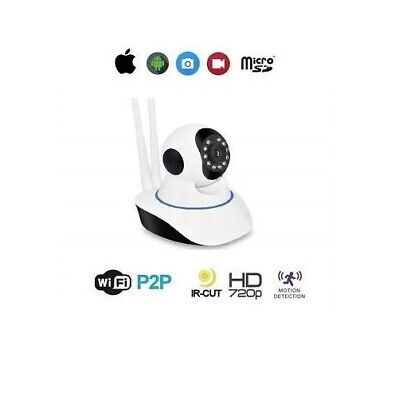 Telecamera Ip Camera Hd 720P Wireless Led Ir Lan Motorizzata Wifi Rete Internet