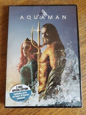Aquaman 2 disc (DVD,2018) NEW- FREE SHIPPING!!!!!!