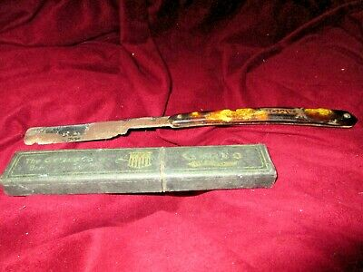 THE GENCO CO. BRADFORD PA STRAIGHT EDGE RAZOR with original Mint Box