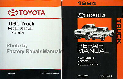 1994 toyota truck factory service manual 2 volume set pickup shop repair