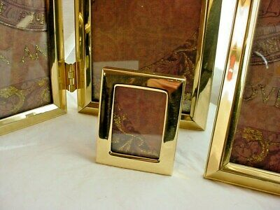 Solid Brass Frames Mixed Lot of 5 Vtg 2 to 7 inches Varied Styles