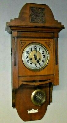 Gustav Becker P 42 Free Swinger Chime Regulator Wag Wall Clock Germany Working