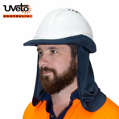 UVeto Hard Hat Flap Sun Protection Attachment with Neckflap UPF50+ Micro Mesh