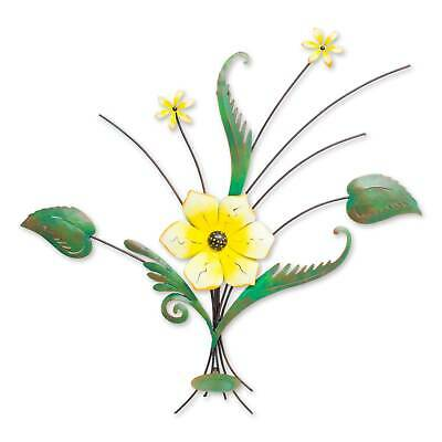 Lovely Lily Artisan Handcrafted & Painted Iron Wall Sculpture Novica Mexico