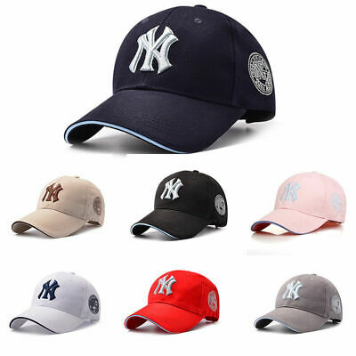 Unisex Mens Womens Baseball Cap Adjustable NY Snapback Sport Hip-Hop Sun Hat